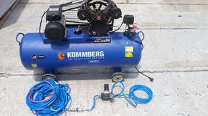 Compresor De Aire 3 Hp 150 Lts + Kit Completo De Uso