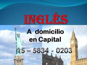 Clases de Inglés a domicilio en Capital