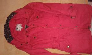 Campera roja de abrigo talle1