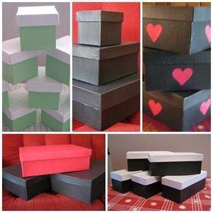 Cajas De Carton Artesanales Blancas Y De Colores. A Medida