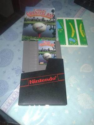 Juego Nintendo Nes Con Funda Y Manual Golf Grand Slam