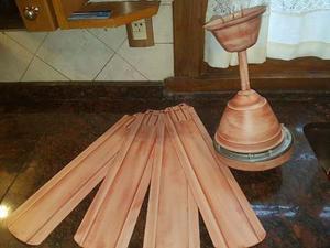 Ventilador De Techo Patinado En Color Rosa. Casi Nuevo!!!