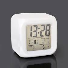 Reloj Despertador Musica Luces Led Temperatura Fecha