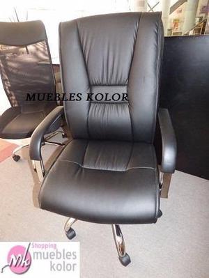 Sillon Ejecutivo Silla De Oficina Pc Regulable Muebles Kolor
