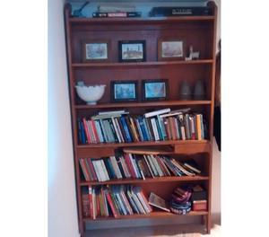 Hermosa biblioteca estanteria hierro y madera posot class - Bibliotecas de madera ...