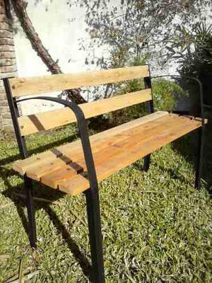 Banco de hierro y madera chaco posot class for Banco de jardin de hierro y madera
