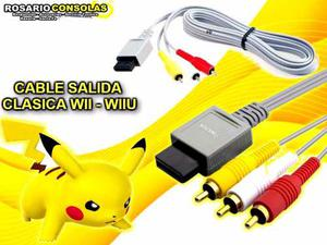 Cable Audio Y Video Clasico Nintendo Wii Rosario