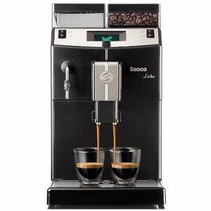 Cafetera Express Saeco Lirika Black, 15 Bares, Cappuccino