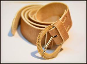 Cinturon De Cuero Crudo Sobado