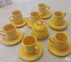 Juego de cerámica para café doble 16 piezas