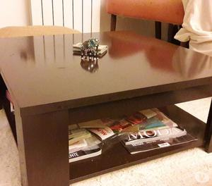 Mueble living modular en melamina wengue posot class - Mesas color wengue ...