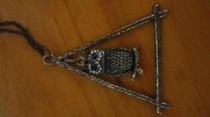 Set de collares y anillo buho
