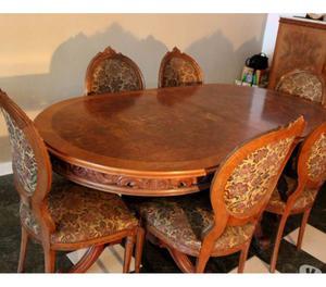 VENDO juego de comedor -mesa + 6 Sillas Living Comedor