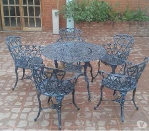 Juego de jardin aluminio ionizado paran posot class for Aluminio productos de fundicion muebles de jardin