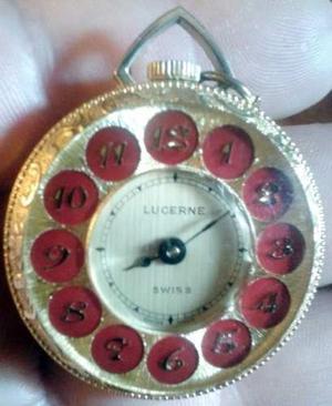 Antiguo Reloj Lucerne - Bolsillo Y/o Pendant - Swiss