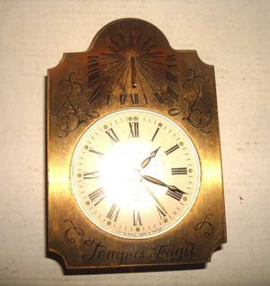 Raro Antiguo Reloj Frances De Bronce 7rubis Tempus Coleccion