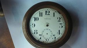 Reloj 8 Dias De Bronce Auto Antiguo