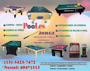 Alquiler Mesas de Pool -Metegol- Sapo!