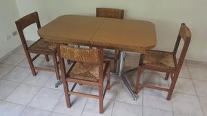 juego mesa y sillas para cocina comedor diario posot class