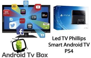 Super Combo Tv Led Full Hd Philips + Smart Android Tv + Ps4!