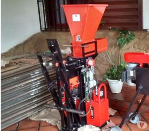Prensa hidraulica para ladrillo. ladrillo ecologico