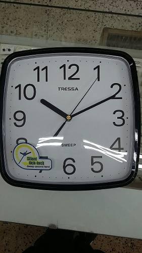 Reloj De Pared Silencioso Tressa