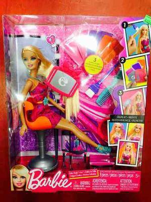 Barbie Pinta Su Pelo Original Mattel
