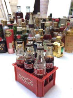 Cajón Botellitas Miniatura Coca Cola Originales