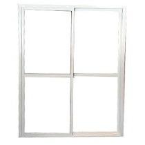 Ventana Puerta Balcon Aluminio Blanco 2 X 2 Vidrio Entero