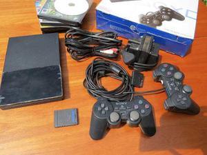 Playstation 2 Slim + 2 Joystics + Mem Card 8 Mb