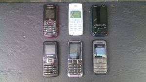 Lote de telefonos celulares para repuesto