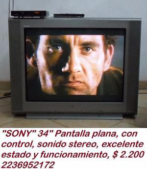 """""""SONY"""" 34"""" pantalla plana"""