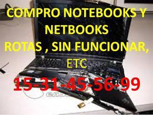 COMPRO NOTEBOOKS NETBOOKS QUE NO FUNCIONEN