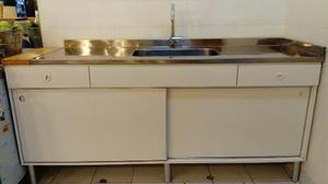 Mueble De Cocina Con Bacha De Acero Inoxidable Liquido!!!