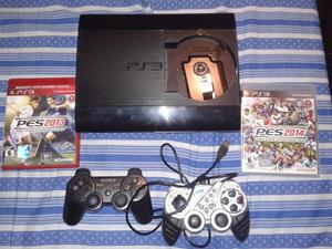 PS3 COMPLETA 250 GB 2 controles y juegos
