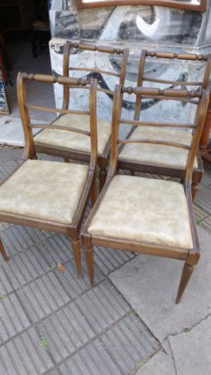 4 sillas antiguas estilo inglés