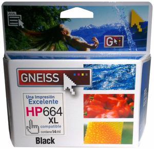 Cartucho Gneiss Hp 664 XL Negro