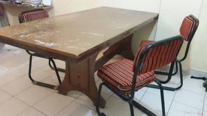 Mesa mas tres sillas