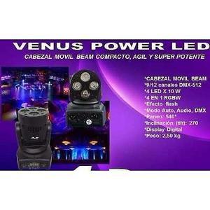 Cabezal Movil Gbr Venus Power Led Beam Rgbw 4 Led 10 Watts