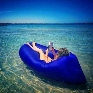 Lazy Bag - Puff Flotador Cama Inflable Reposera Pileta Playa