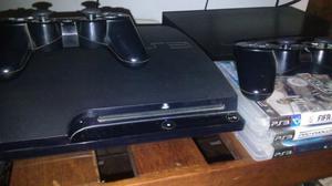 Play station 3 + 2 DualShock3 + 4 juegos