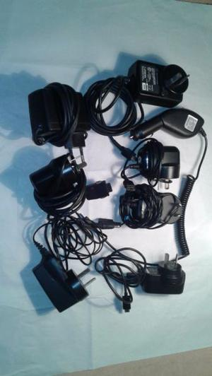 Set de cargadores para celular