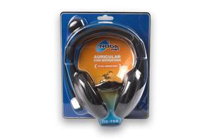 Auricular con microfono rebatible y control de volumen Extra