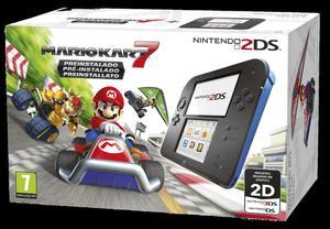 Nintendo 2DS Azul. Mario Kart 7. Cargador original! NUEVA
