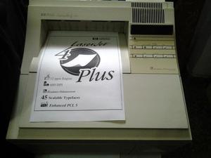 Repuestos Despiece Impresora Hp Laser Jet 4 Plus Transpato