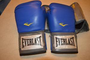 Guantes De Boxeo Everlast Pro Style Azules 12oz