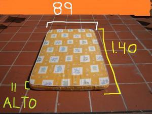 colchon de cuna 1,40 largo x 89 ancho x 11 alto