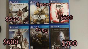 Juegos de PS4 Usados Excelente Estado