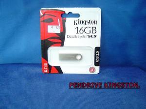 Pendrive Kingston 4GB, 8GB, 16GB, 32GB.