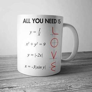 Taza All You Need Is Love Ecuaciones
